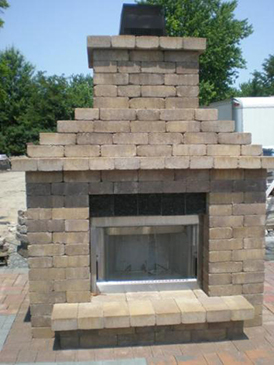Quality Outdoor Stone Fireplace Maryland